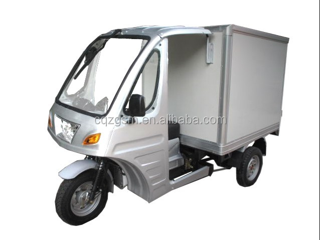 Cabin refrigerator tricycle/cooling box three wheel motorcycle/cargo three wheeler