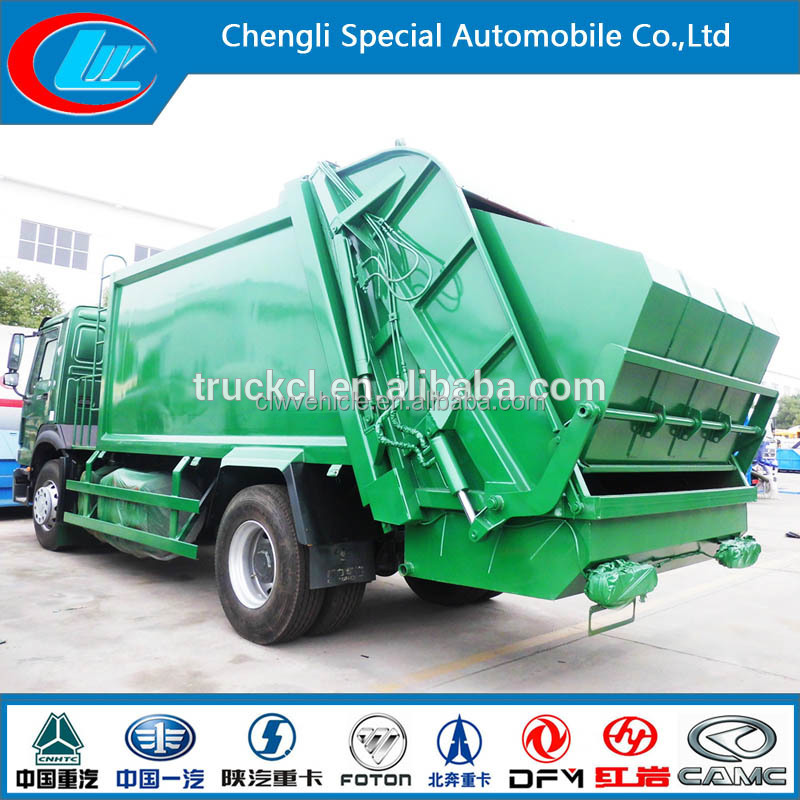 Compression garbage trucks dump used garbage compactor truck for sale