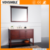 Easy Install solid wood bathroom cabinet with natural countertop, pedestal solid wood bathroom vanity