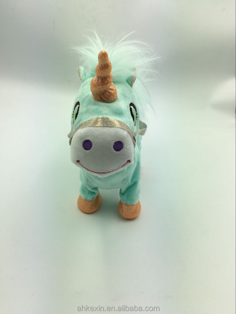 Wholesale electric musical walking kids horse toys