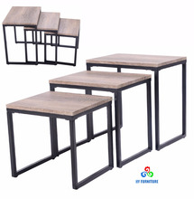 3 pcs cheap coffee table set wooden nesting coffee small end tables sets supplier