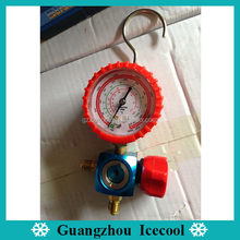 DSZH One way manifold gauge CT-468-GH Refrigeration single high pressure gauge With Valve