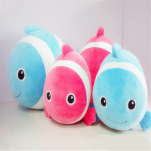 Colorful Animal Doll Plush Animal Toys Embroidery Safety Whale Eyes Toys
