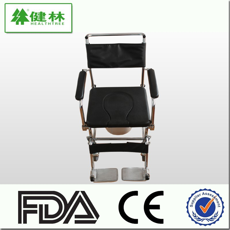 Hospital and home health care toilet commode chair wheelchair