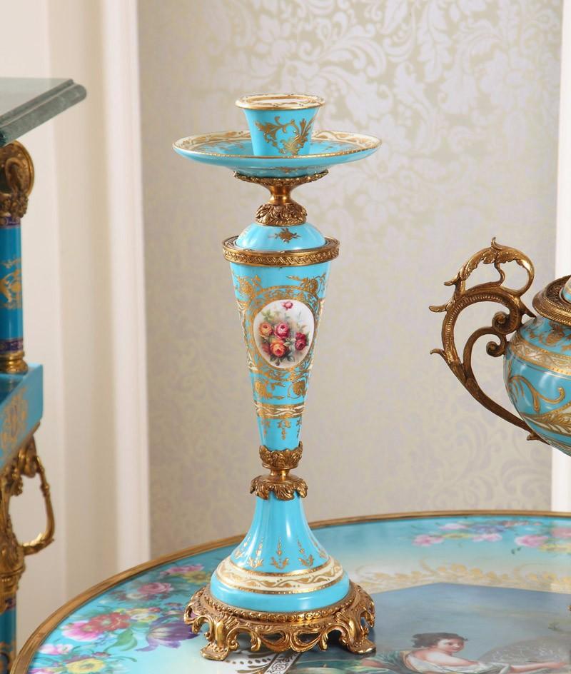 Casa decorações criativas cinco conjuntos de azul artesanato enfeites de vaso de cerâmica para decoração de casa