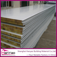 Customized Insulated Fireproof Cladding Steel Rock Wool Wall Panel sandwich Panels