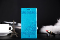 Fashionable design wholesale Ultra thin pu mobile phone cover pouch for apple iphone 6 4.7 inch blue