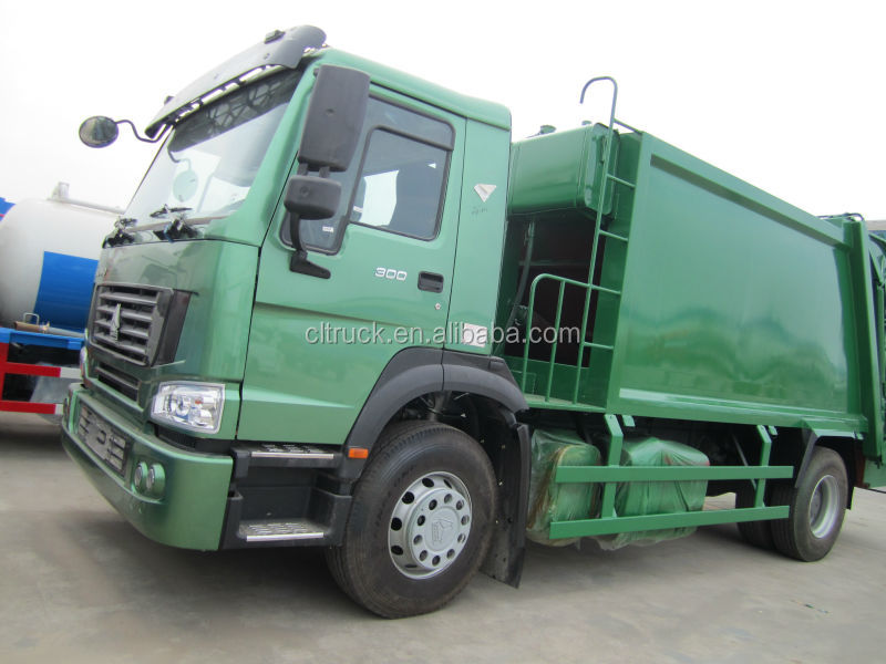 HOWO hydraulic garbage compactor truck