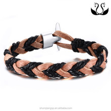 Europe and the United States hand woven bracelet genuine leather braid Bracelet original jewelry men's Leather Bracelet