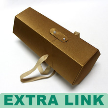 Extra Link luxury leather wine carrier for cardboard wine bottle packaging box