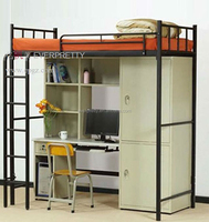 China school furniture dormitory beds /factory selling metal frame dormitory beds /wooden metal bunk bed for school furniture