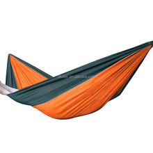 Portable Hot Sales Parachute Nylon Fabric Travel Camping Hammock for Double Two Person