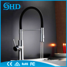 High quality brass fashion new design pull out kitchen faucet with sprayer pull down kitchen water mixer