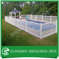 Cheap colorfast PVC post and rail fencing used vinyl swimming pool fence
