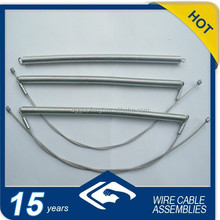 OEM steel tension small spring with zinc nipples