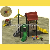 Hot Selling Jungle Theme Amusement Park rubber-coating outdoor playground equipment