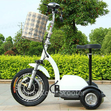 Big rear wheel three wheel electric mobility scooter