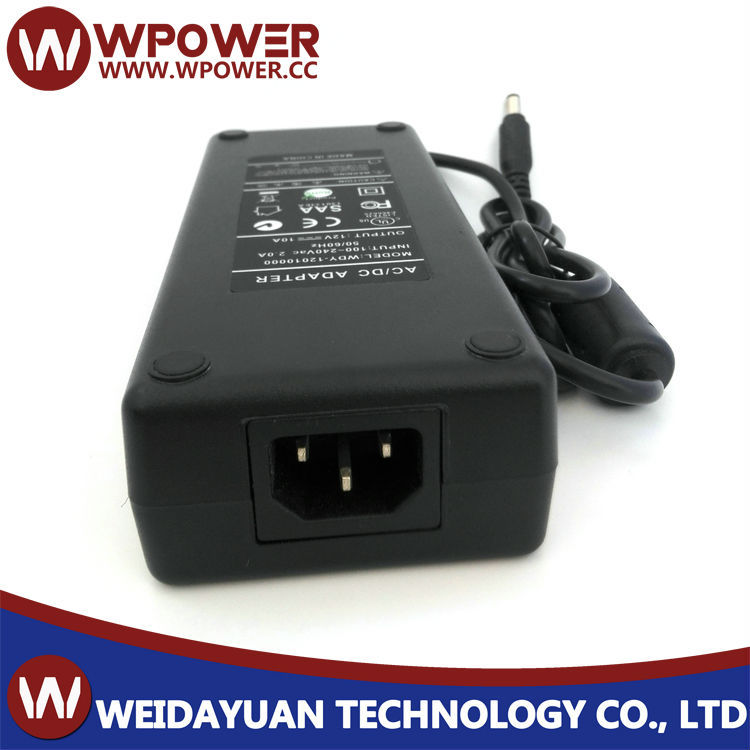 12V 10A 120W switch power adapter for LED LCD TV RGB(CE, FCC, C-tick, SAA, RoHS, UL etc certificates)