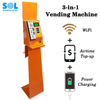 3-in-1 WiFi Vending Machine ,Mobile Phone Top Up and Power Charging Station 2017 Hot New Product