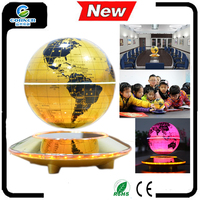 Magnetic led floating Levitation Globe lighting UFO base unique world gift Maglev globe