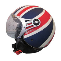 british flag open face helmet for motorcycle scooter