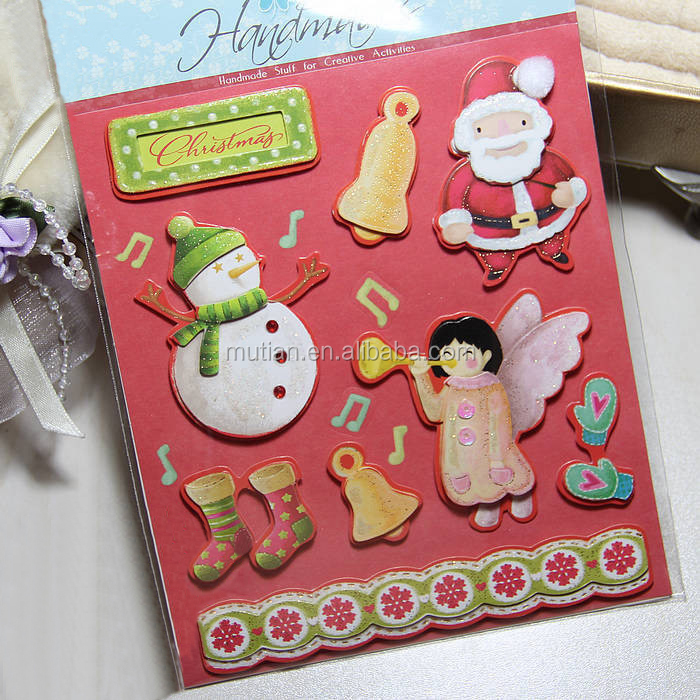 3d dimensional Christmas chipboard stickers