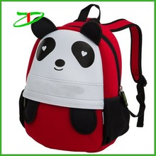 2015 Quanzhou factory kids school panda bag , neoprene children backpack