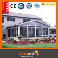 Guangzhou Sunnyquick China hot offer curved glass sunrooms for building projects