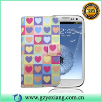 Leather skin wallet flip case cover for samsung galaxy s3 i9300