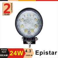 "Hot sell led work light 24w 4"" round LED work Lamp for Truck tractor suv atv boat"