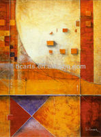 Handmade Modern geometric patterns abstract paintings on canvas for wall decor
