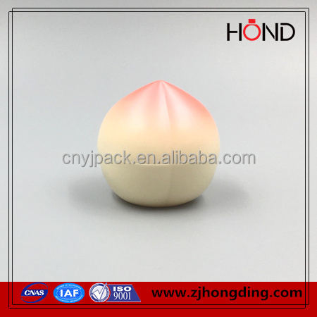 top selling color orange/peach/pear shape acrylic plastic elite cosmetics jar