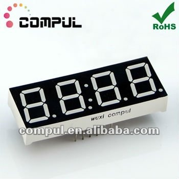 "CPS05643BR, 0.56"" Four Digits 7 Segment LED Clock Display"