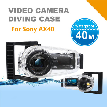 Underwater Video Camera Waterproof Diving Housing For Sony FDR-AX40