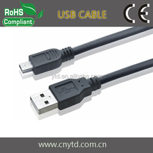 High quality white Color Mini USB cable # Shielded twisted pair
