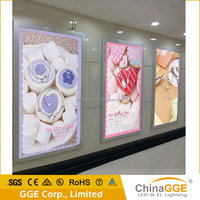 Manufacturer Supplier 24x36 movie LED poster picture frames led light box home decor for cinema sign