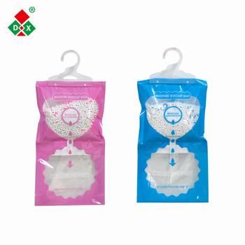 Factory price calcium chloride desiccant hanging bag for wardrobe