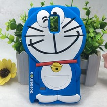 3d cartoon doraemon Silicone cell phone case for samsung galaxy note4