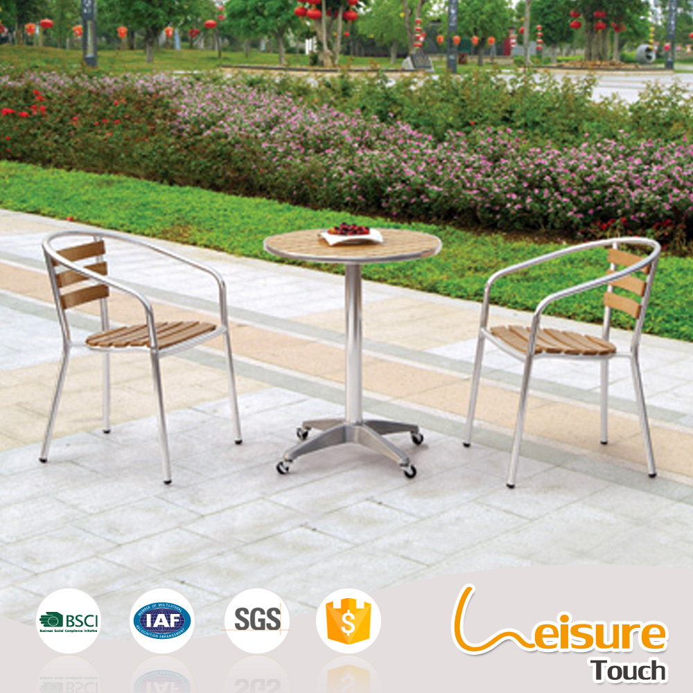 Outdoor restaurant furniture aluminum chairs and tables for cafe