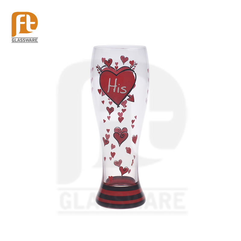 21oz long and large drink beer glass cup Personalized print Pilsner Beer Glass