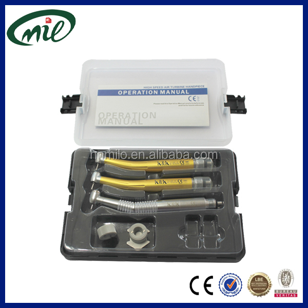 Ceramic bearing e-generator turbine led dental handpiece/high speed air turbine handpiece kit