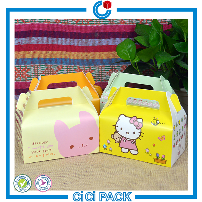 Lovely Mini Candy Cake Paper Box Packaging for Cookies Bakery Wholesale