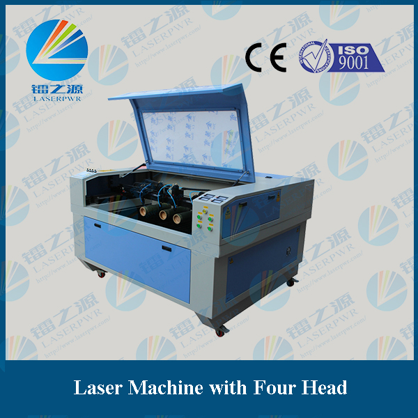 Four head cnc laser cutting machines 1390 for wood