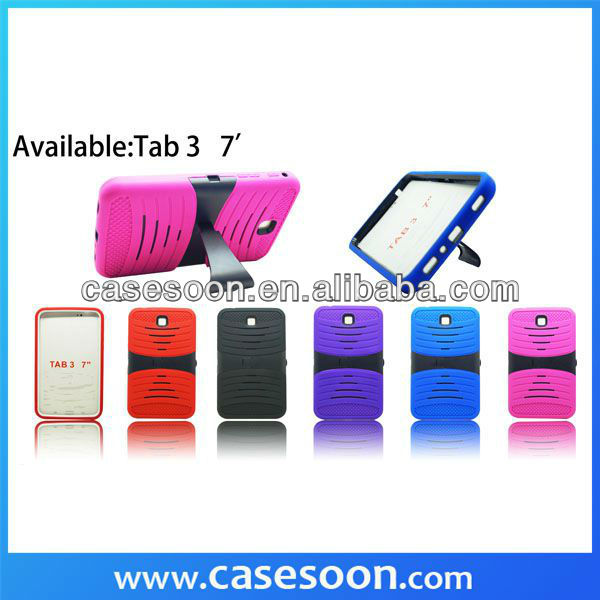 For Samsung Galaxy Tab 3 7 Hybrid Hard Case Skin Cover Curve Stand