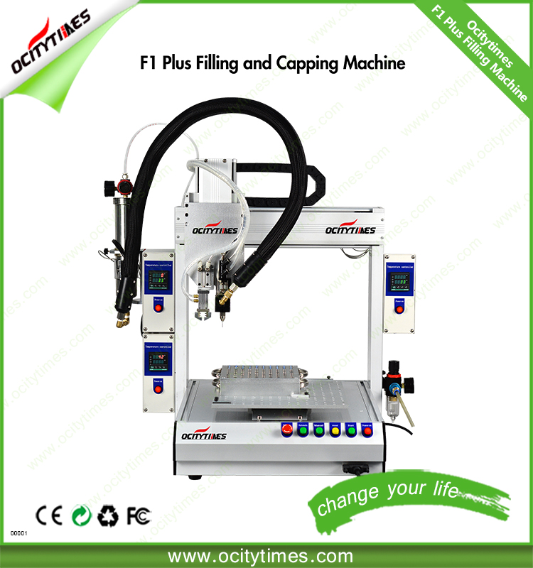 Ocitytimes High Quality F1-Plus filter cigarette making machine/510 oil vaporizer cartridge filling machine