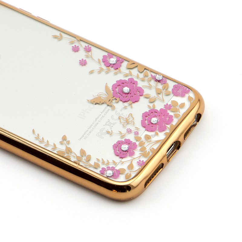 high quality cell phone case pattern case for iPhone 5/5S Summer Series with Diamond