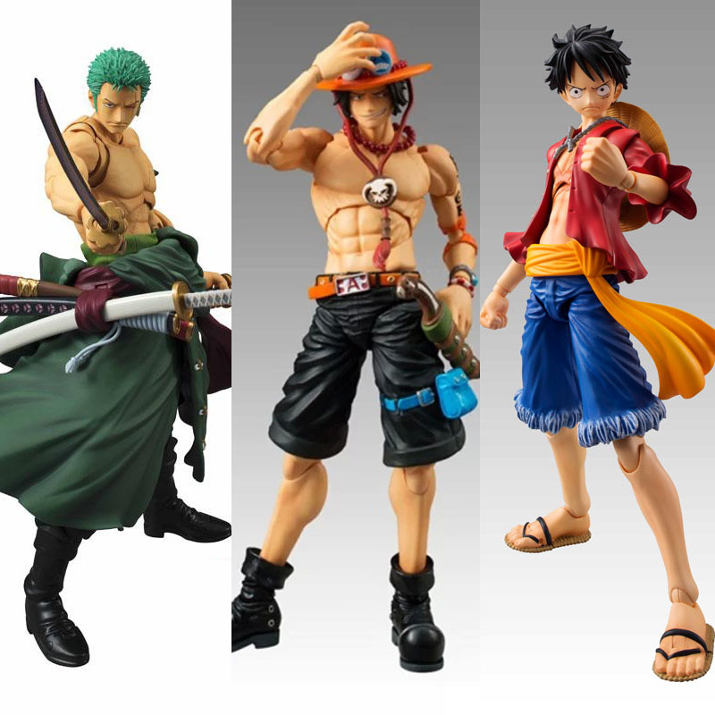 Action Figures One Piece Monley D Luffy Roronoa Zoro PVC Cartoon Statues