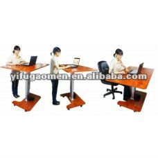 Altura ajustable sentarse stand reposteria estaci n de for Altura escritorio ergonomico