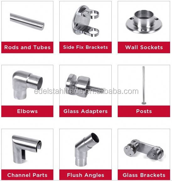 Top sales stainless steel wall mounted veranda deck railing brackets