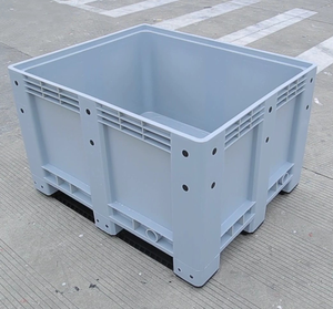 HDPE heavy duty storage solid stacking plastic pallet box 1200*1000